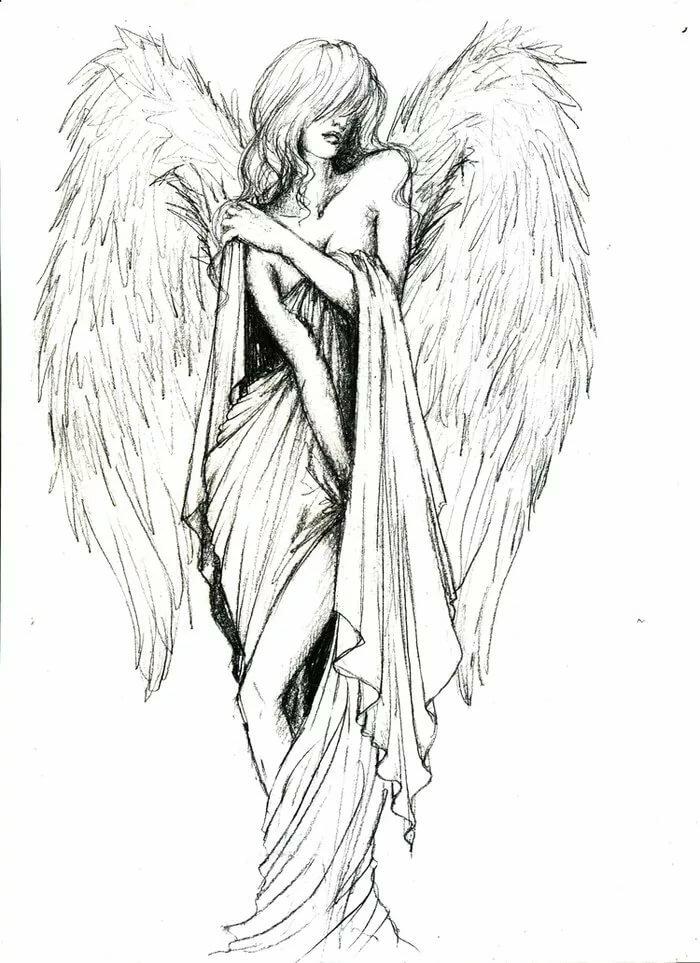 полгода красивые рисунки ангелов с крыльями динар считается самой