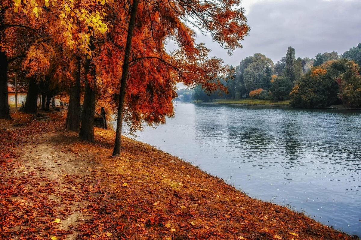 Осенние картинки с речкой