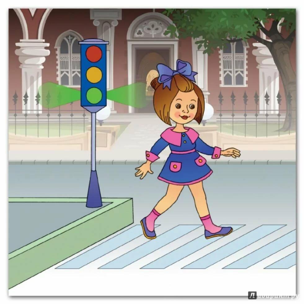 Рисунки и картинки пешеходного перехода