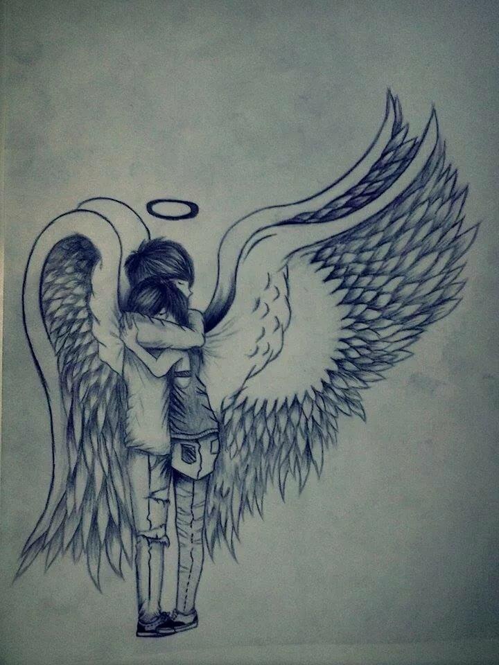 Красивые рисунки для срисовки ангелы
