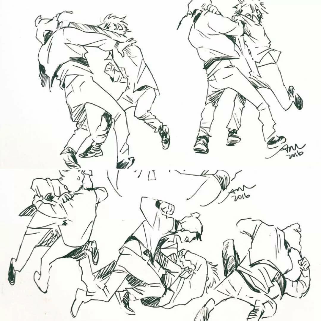 Простой рисунок драки