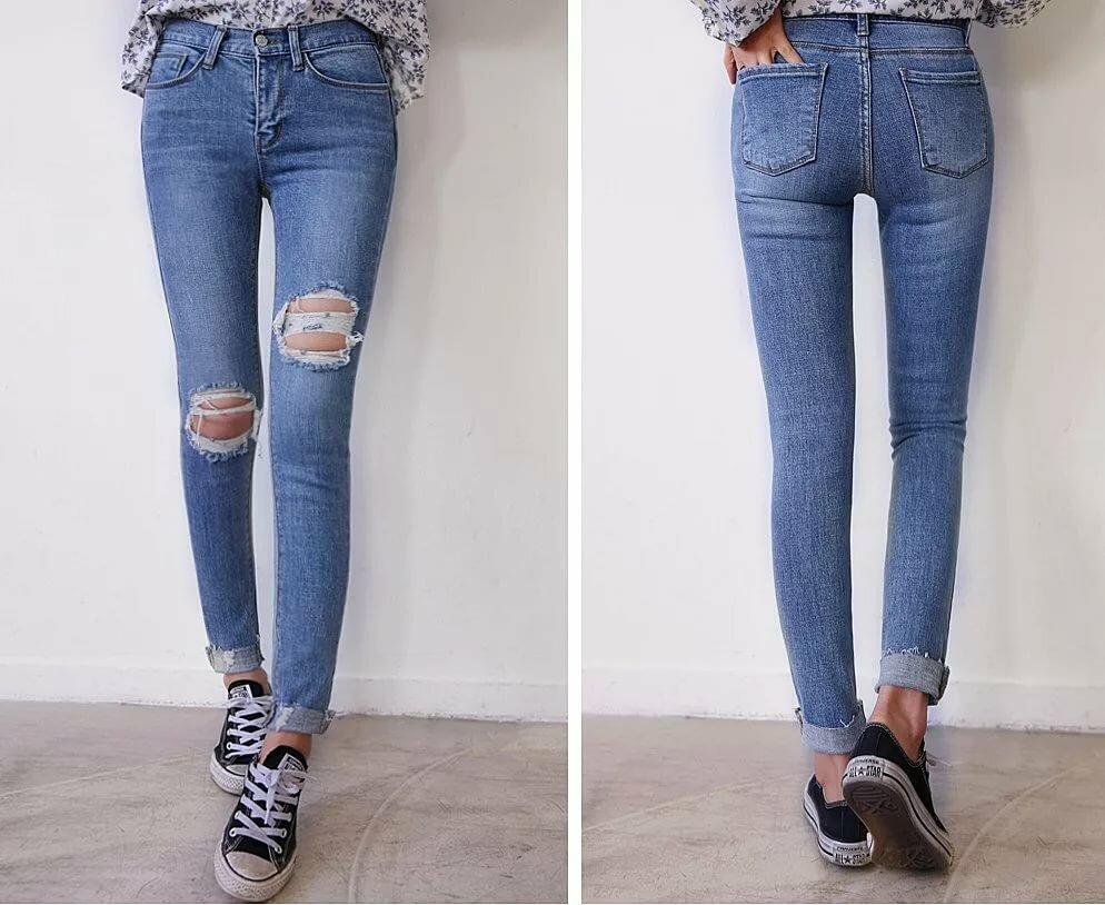 джинсы с рваными коленями картинки просмотрев фото