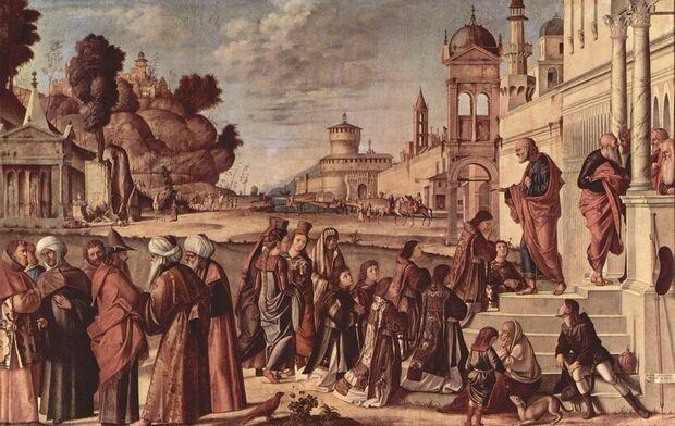 Рукоположение святого Стефана. Витторе Карпаччо,