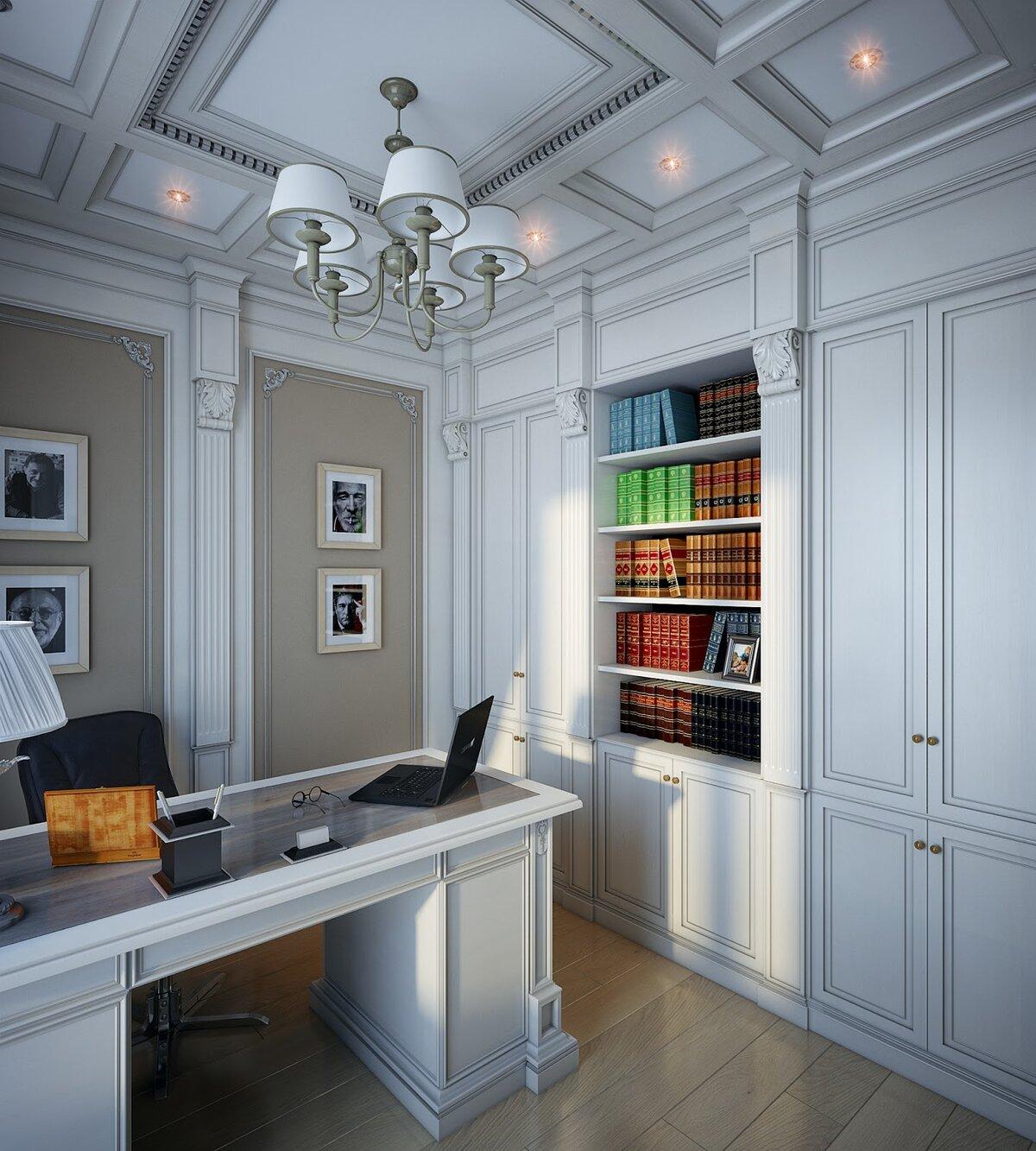 фото кабинет с белой мебелью время проживал ингушетии
