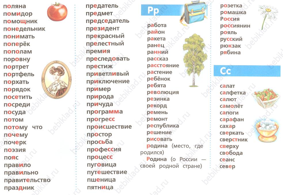 Открытка словарное слово или нет
