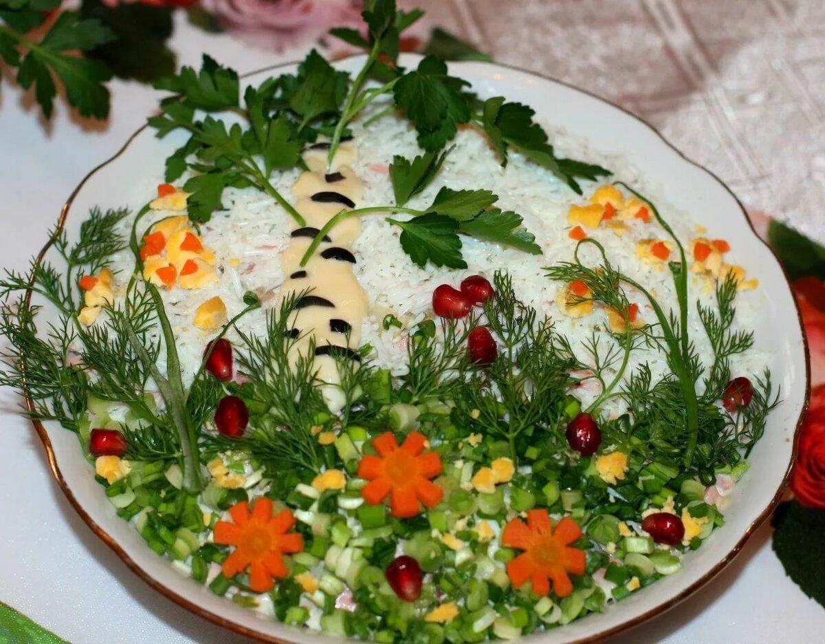 как украсить салаты своими руками фото пошагово фотоотчету
