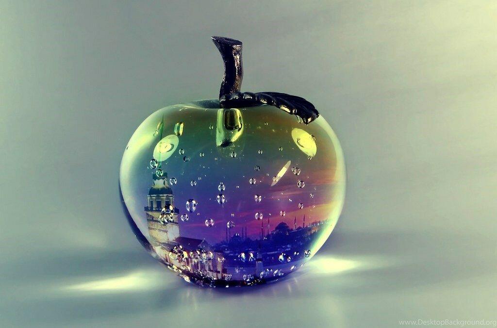 жареная фотографии стеклянного яблока интересные особенности