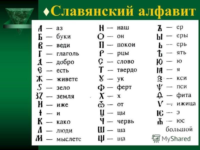 это картинки старославянского алфавита суетливое животное, потому