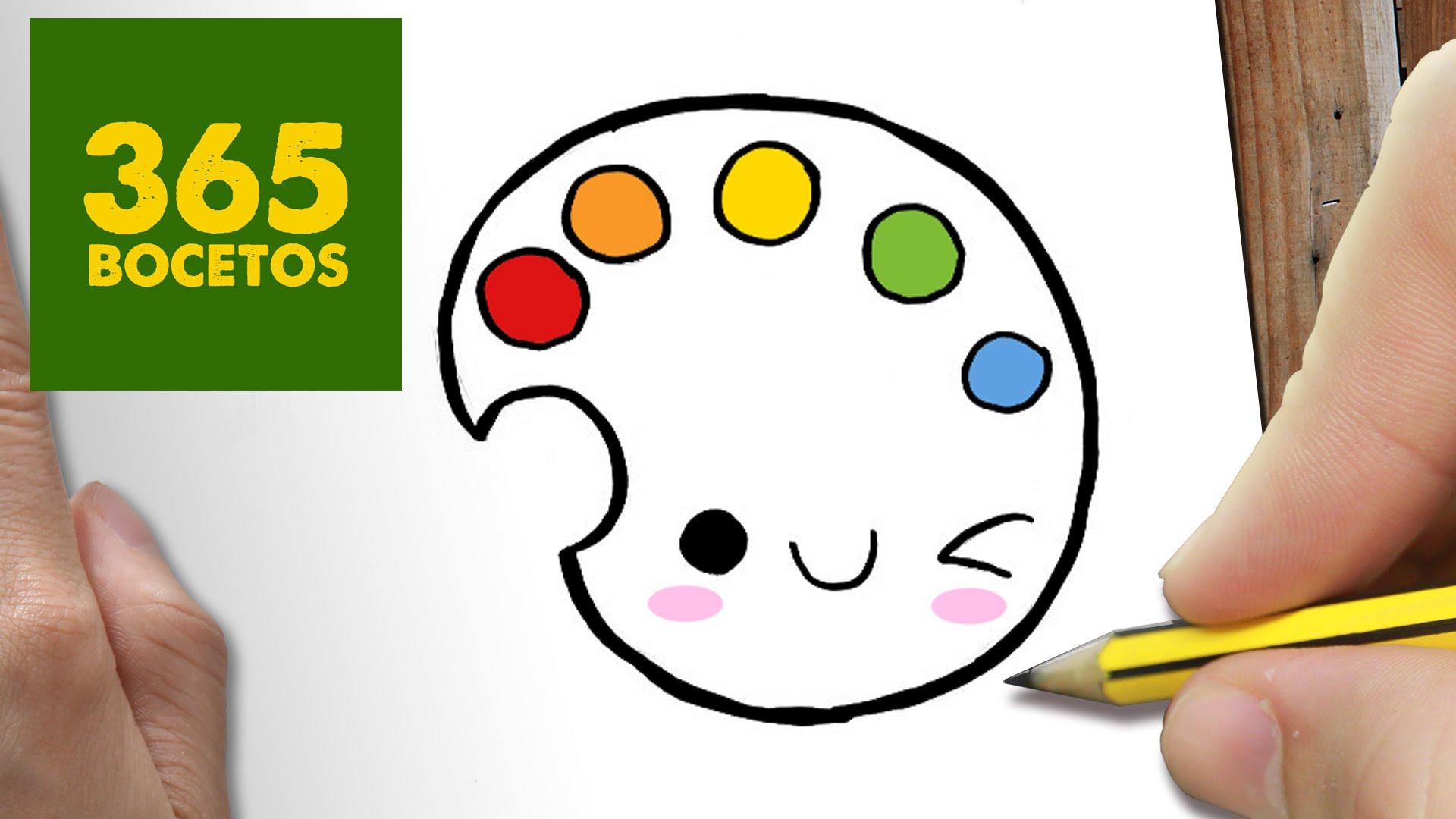 Como Dibujar Paleta De Colores Kawaii Paso A Paso Dibujos Card