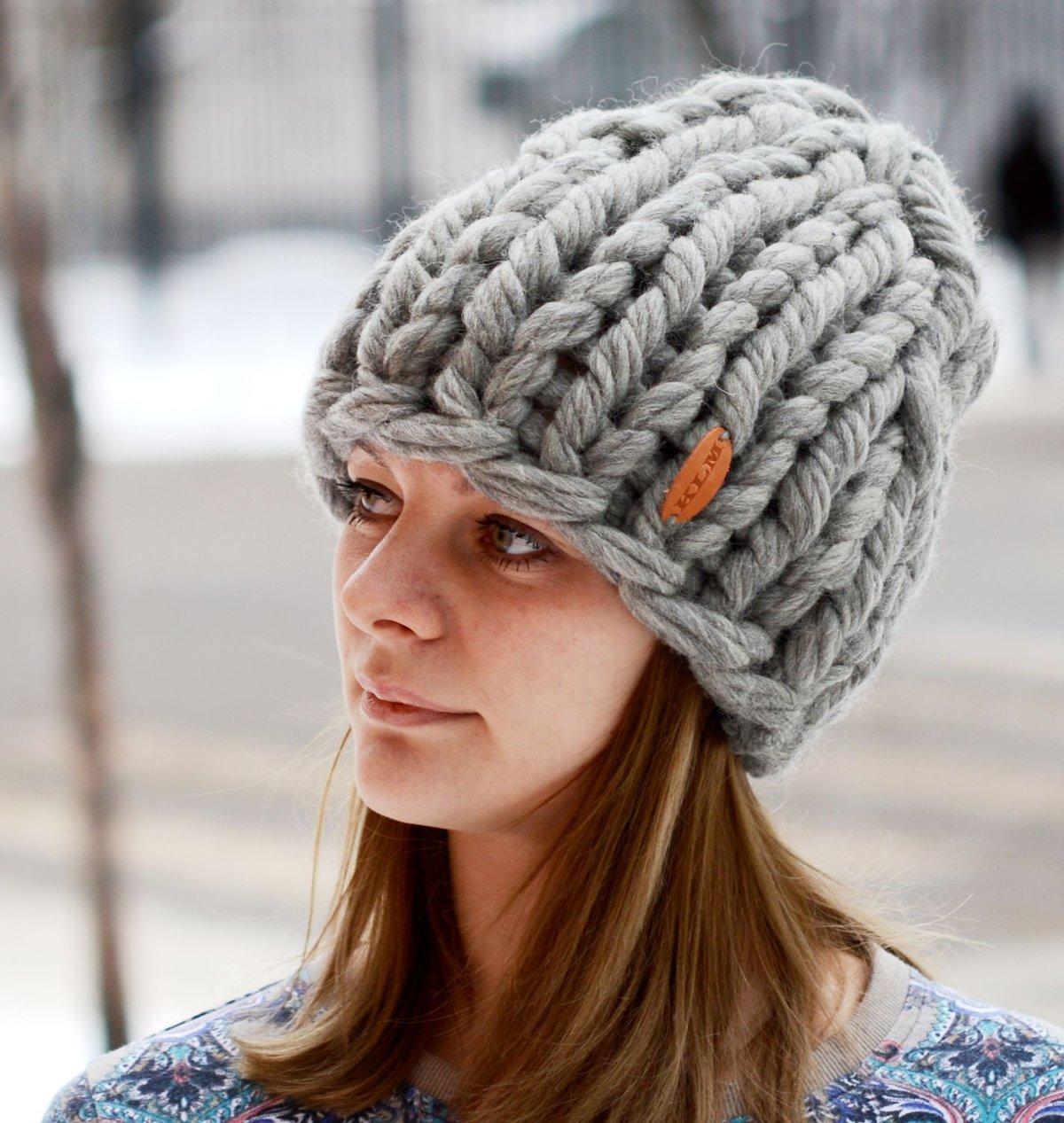 шапки на осень на спицах схемы