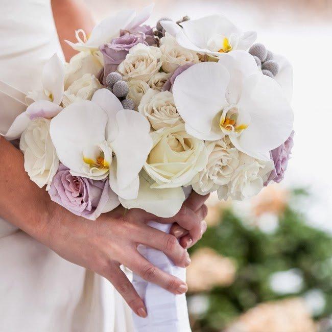 Букеты свадебные из орхидей