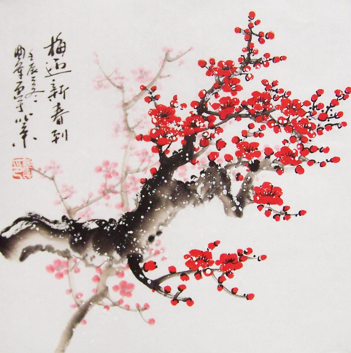рисунок в японском стиле сакура