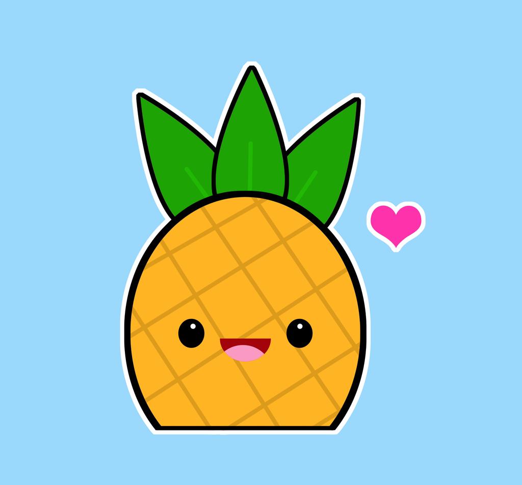 Кавайные картинки ананас