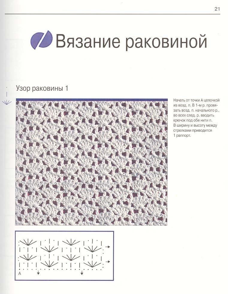 Простые схемы вязания крючком картинки