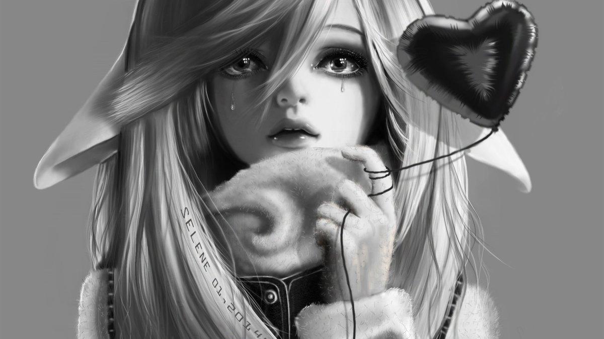 Прикольные аниме картинки черно белые