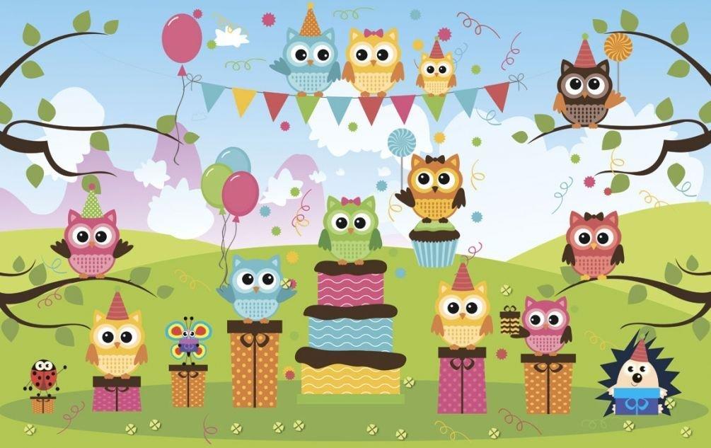 Днем, открытка с днем рождения совы на ветке