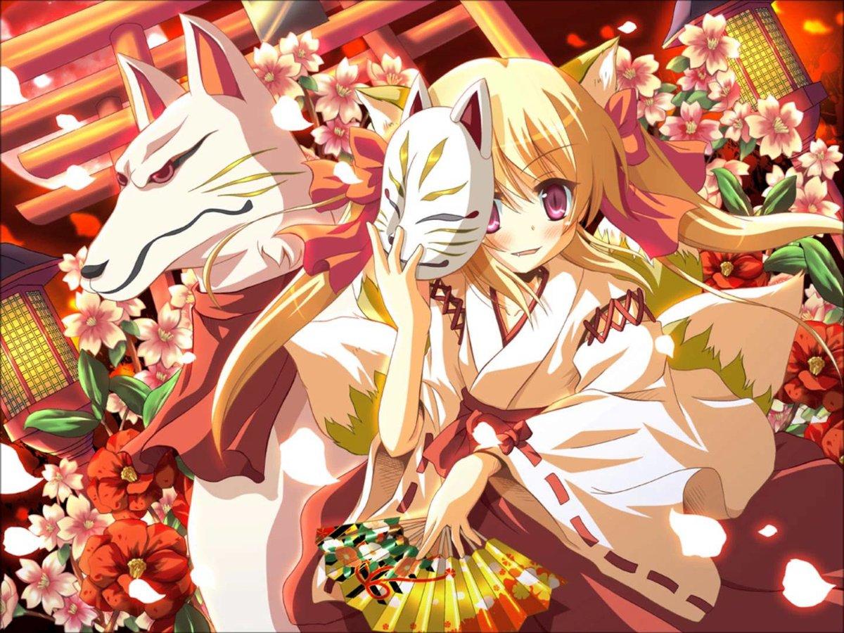 Картинки кицунэ аниме