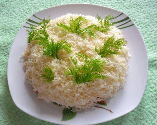 Салат нежный сыр яйца крабовые палочки