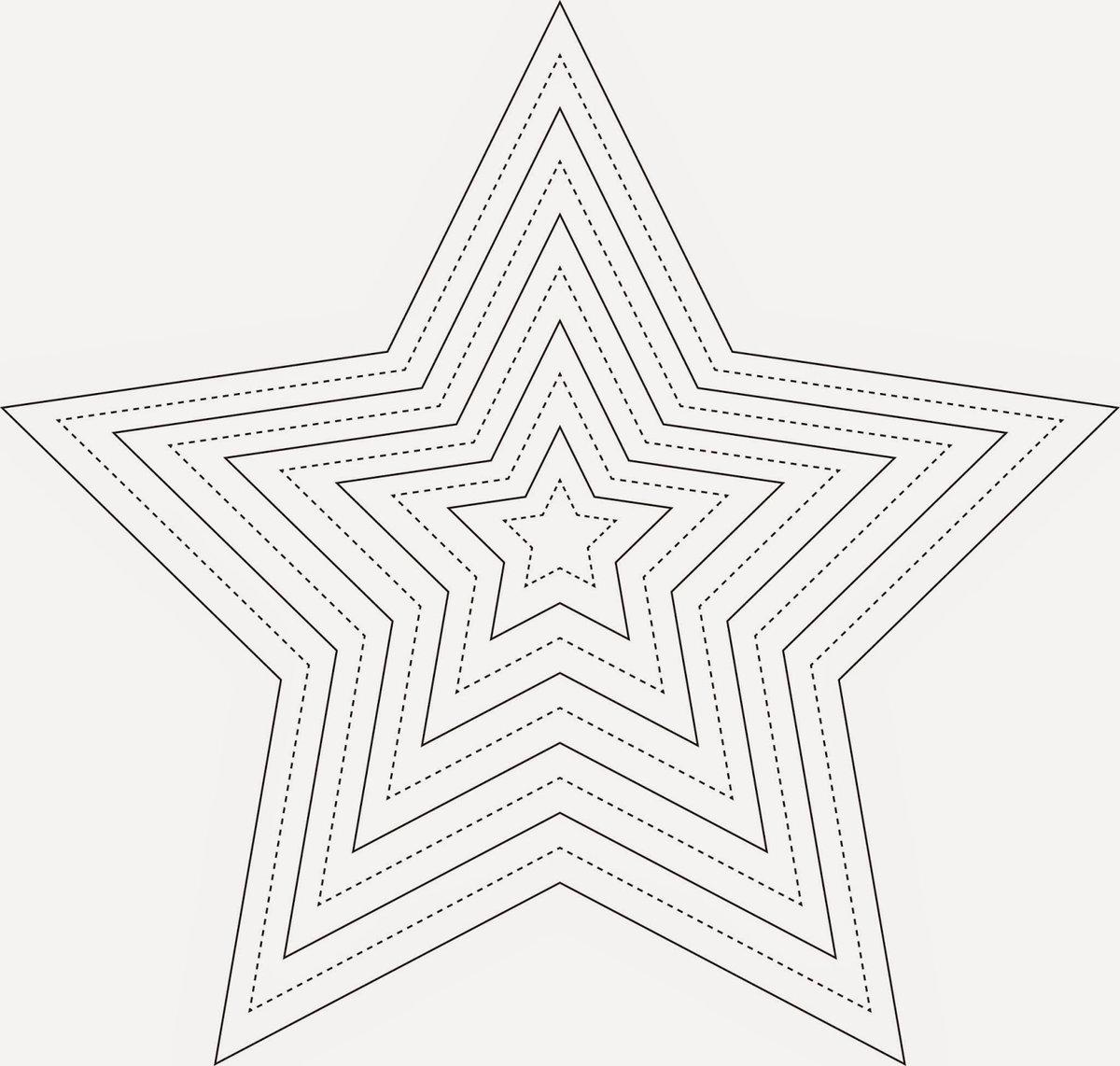 Открытка звезда шаблон скрапбукинг