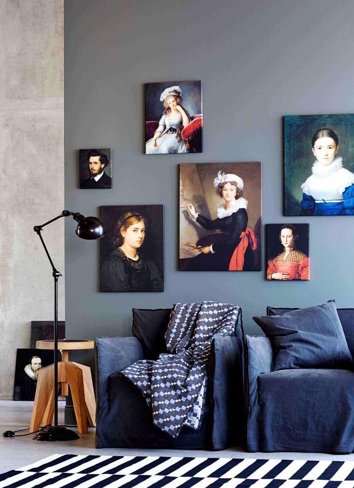 Как повесить картинку на стену, ангелочек счастье