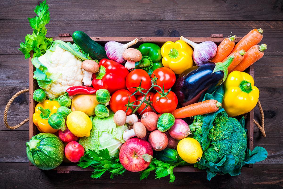 Открытка с овощами