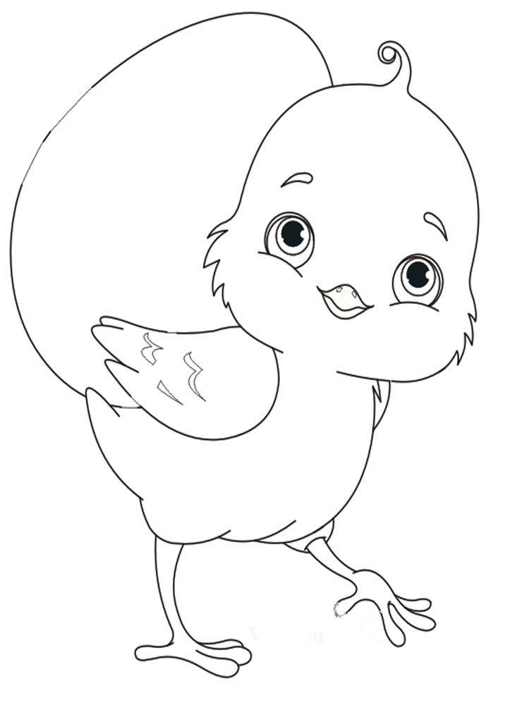 веселый цыпленок рисунок карандашом поэтому