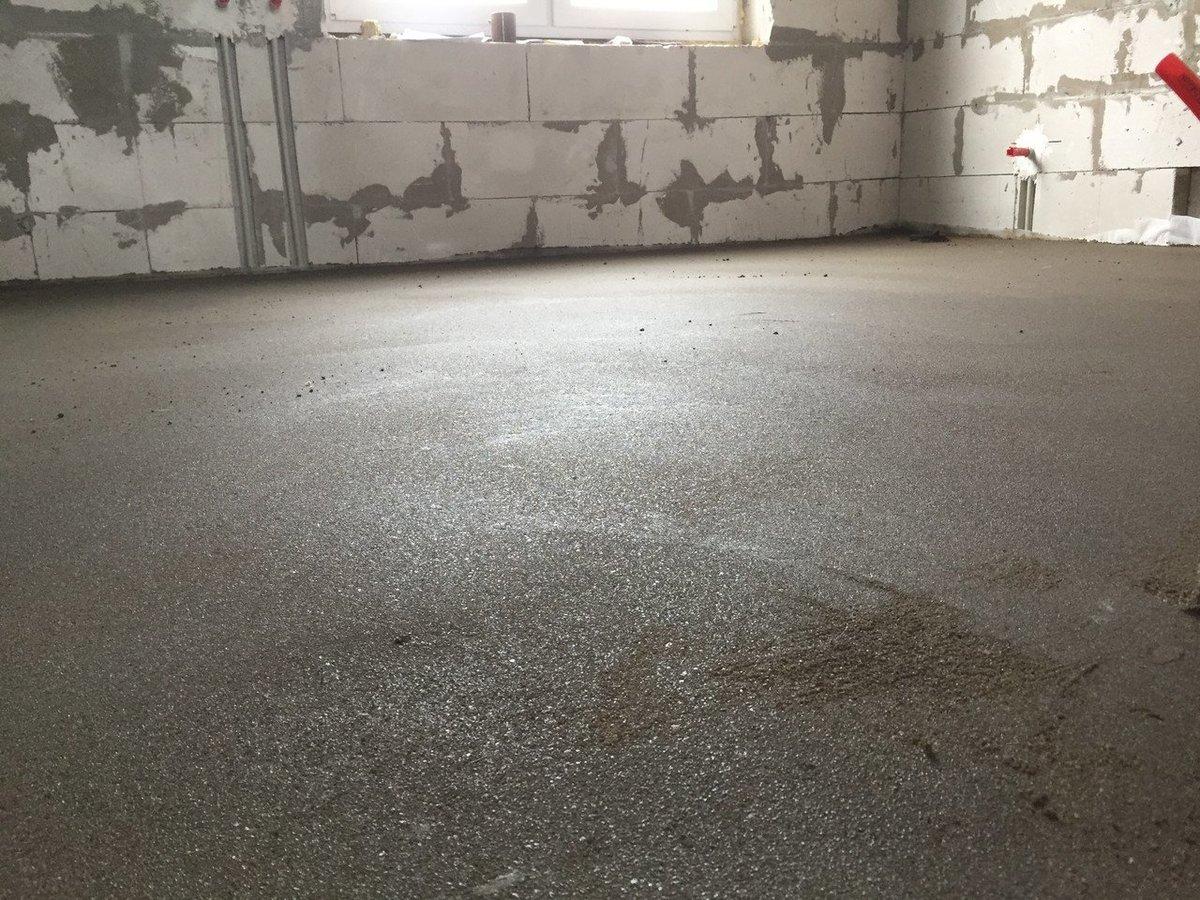 сколько сохнет бетон на полу