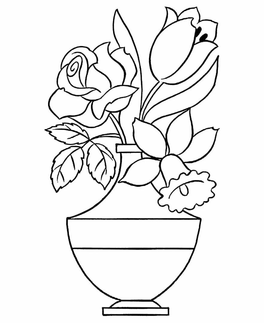 Картинка с вазой распечатать