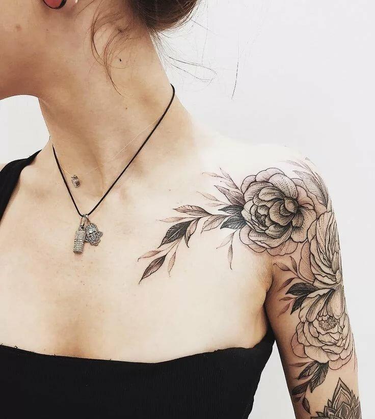 фото татуировок на шее и ключице хорошие