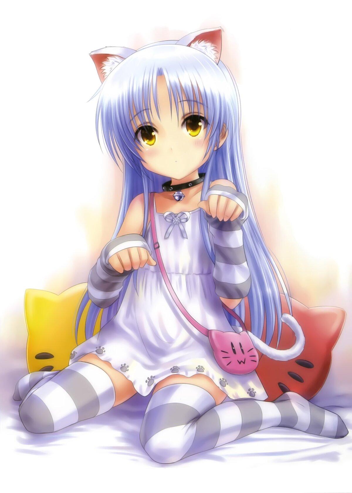 Картинки аниме кошечки девочки