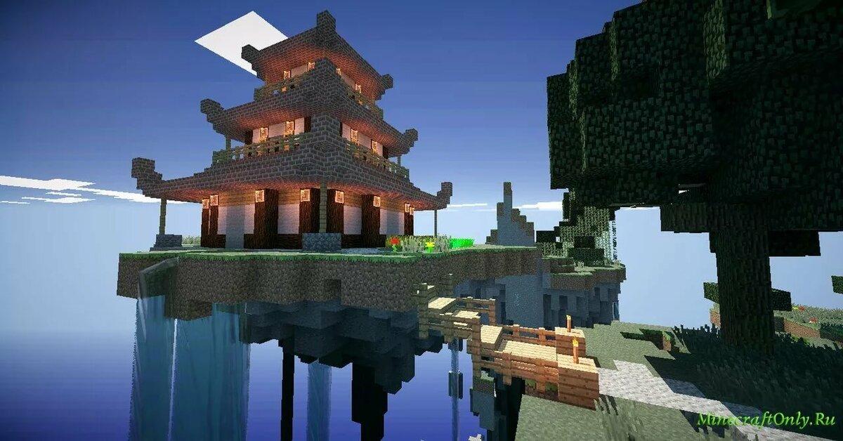 Картинки японские дома в майнкрафт
