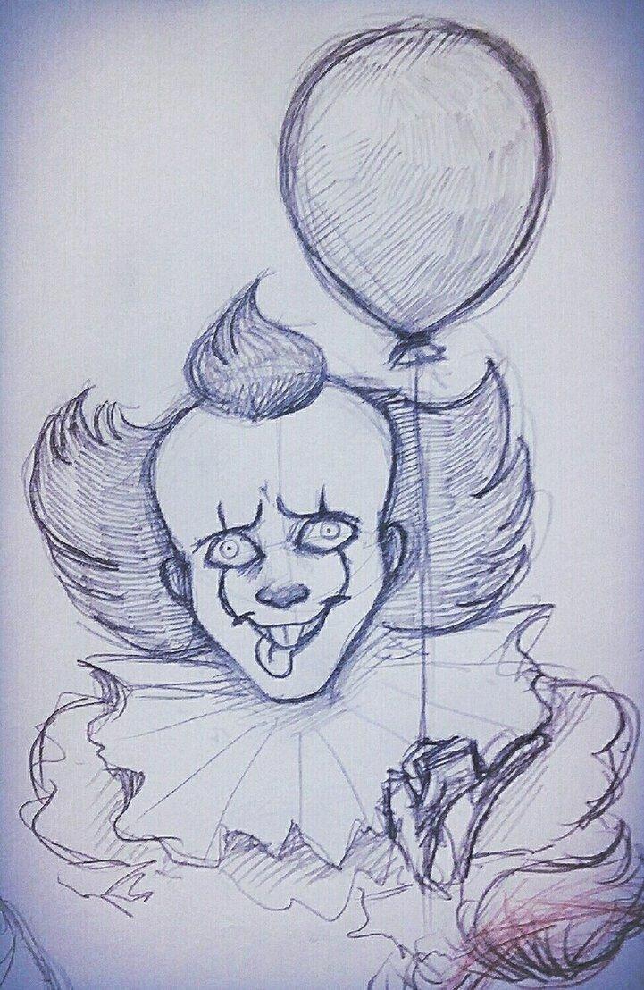 Клоун картинки карандашом для срисовки