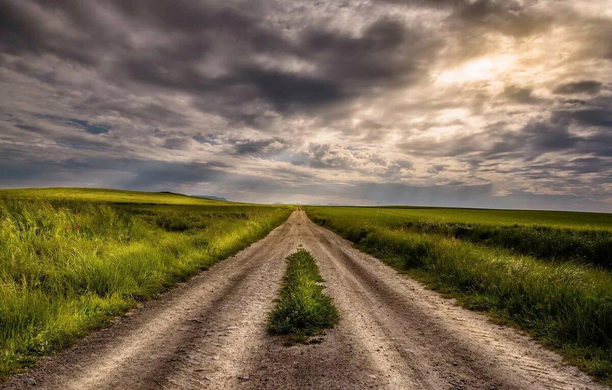 картинка проселочная дорога в даль