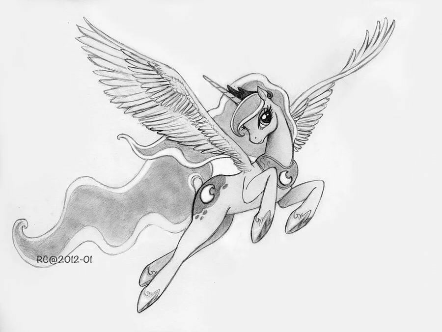 Принцесса луна карандашом картинки