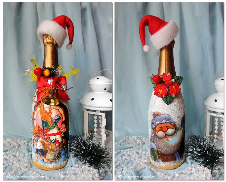 всех украшение новогодних бутылок шампанского фото находимся