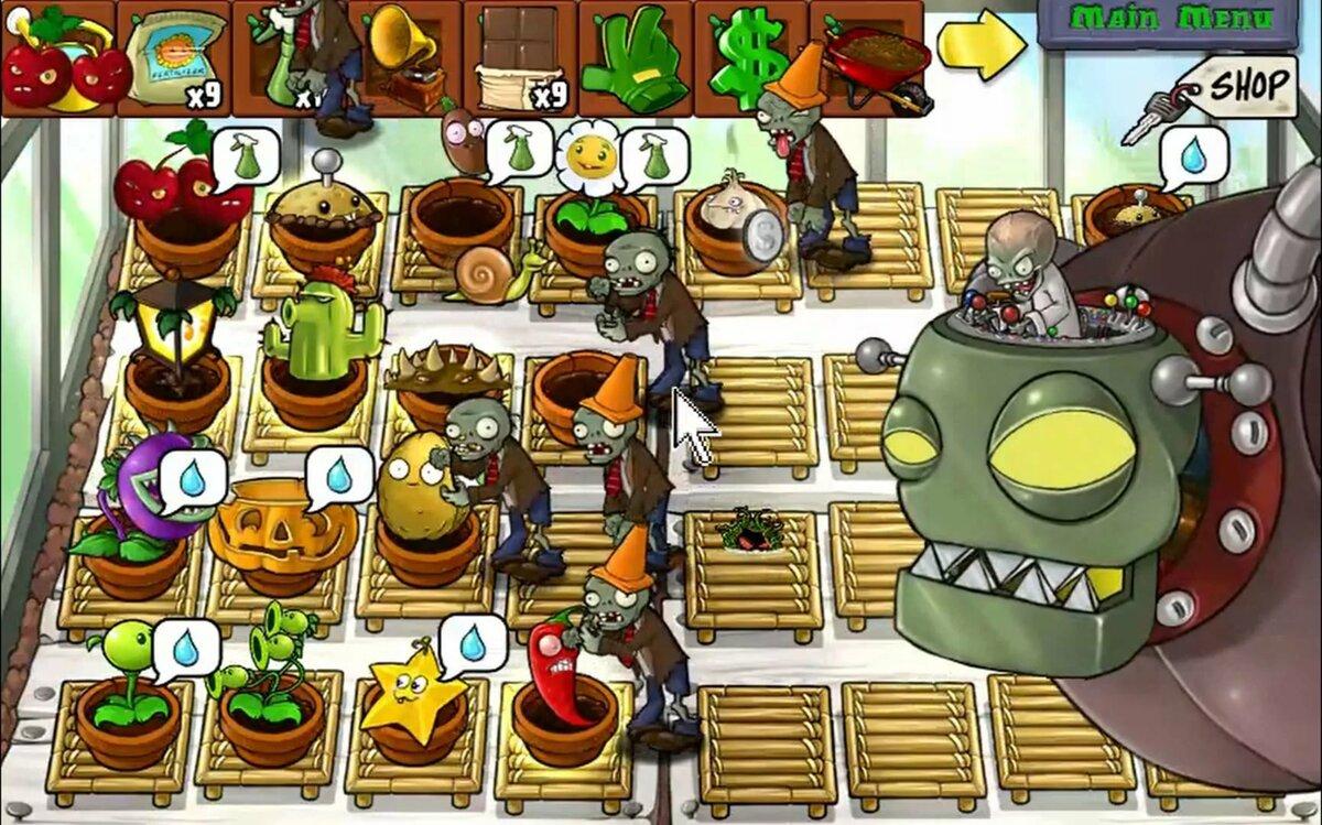Зомби против растений фото