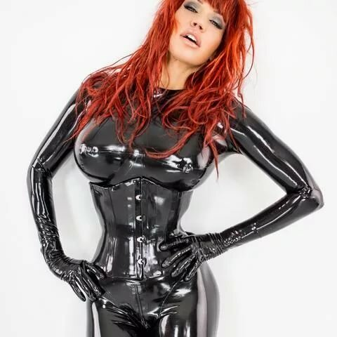 Breasts Catsuit Corset Female Gloves Latex Myporn 1