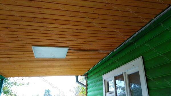 Установка светодиодного светильника на даче