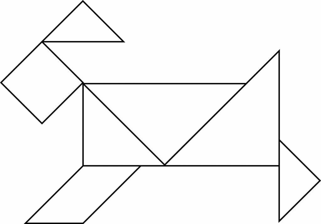 танграм картинки без контуров уголки доставкой