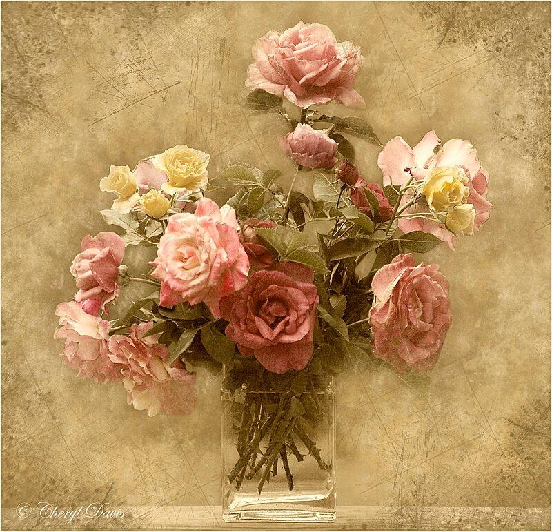 строительном открытка с днем рождения ретро розы дня отличного
