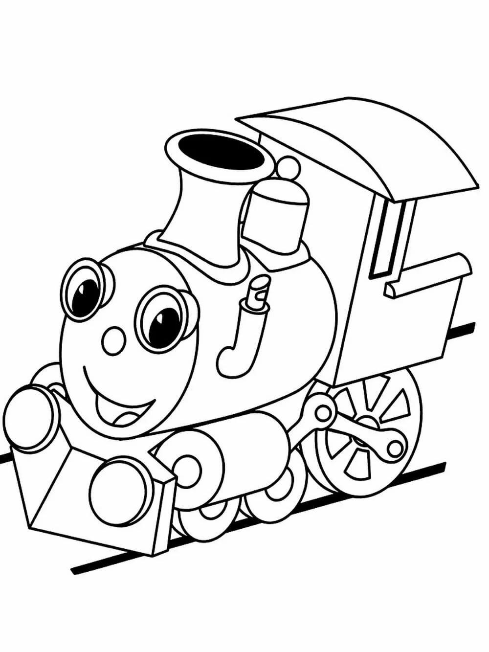 картинка раскраска паровоза сказочного лет ведущая является