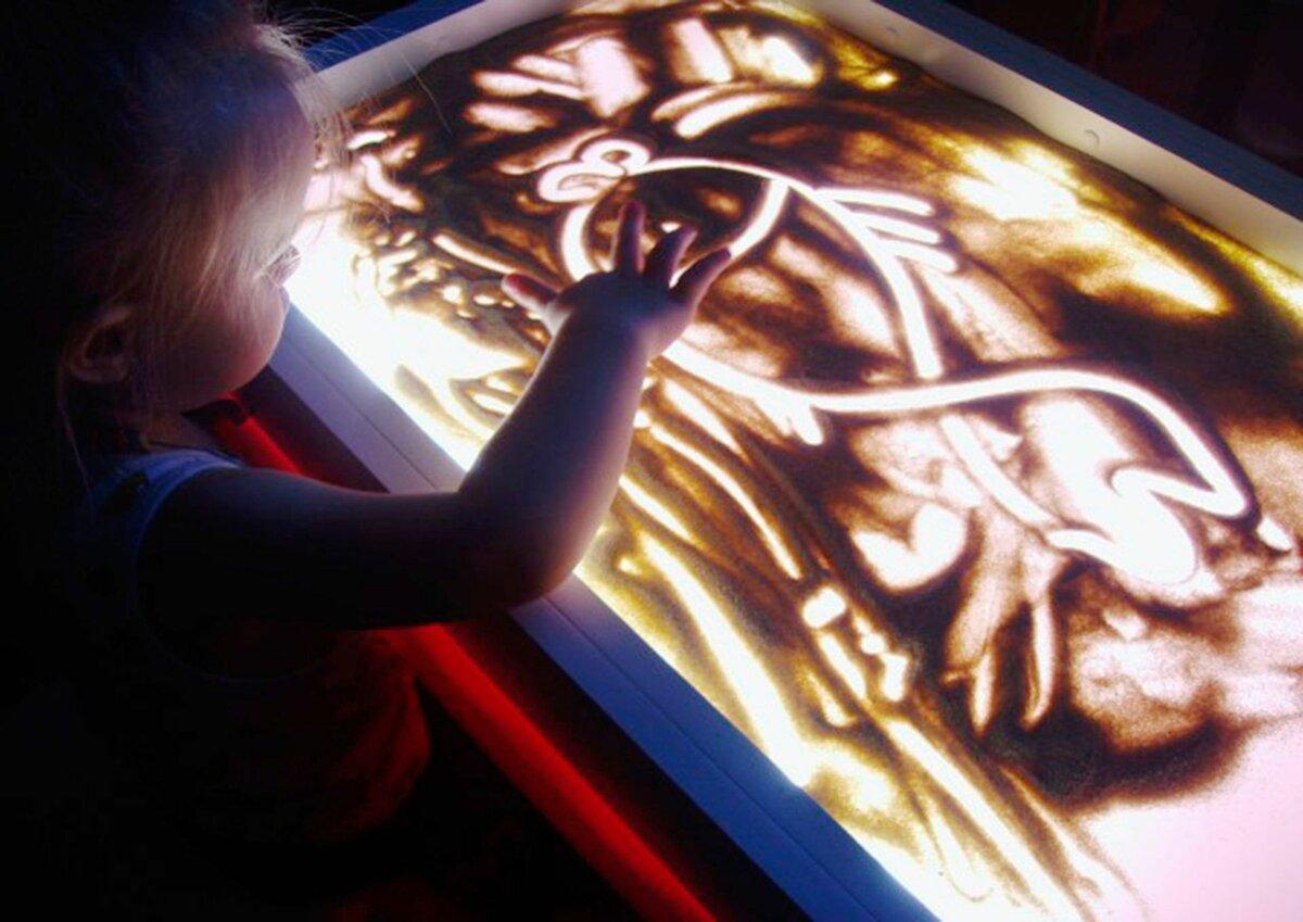 Детский светящийся планшет воображай песком в Павлограде
