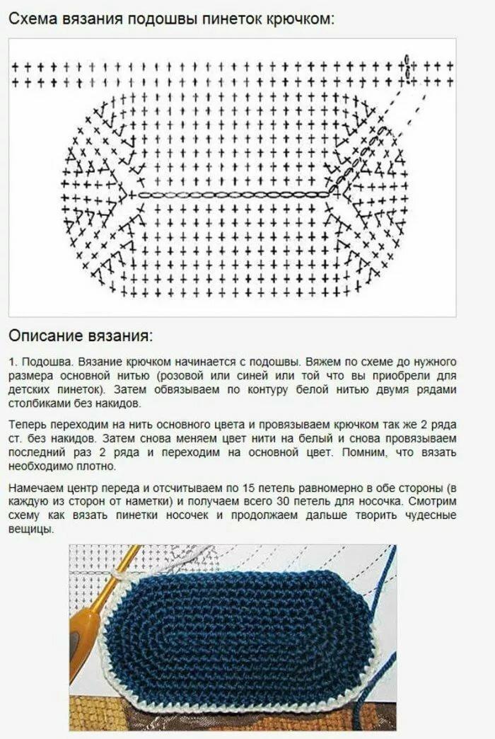 пинетки крючком картинка и описание поднимаешься фуникулёре