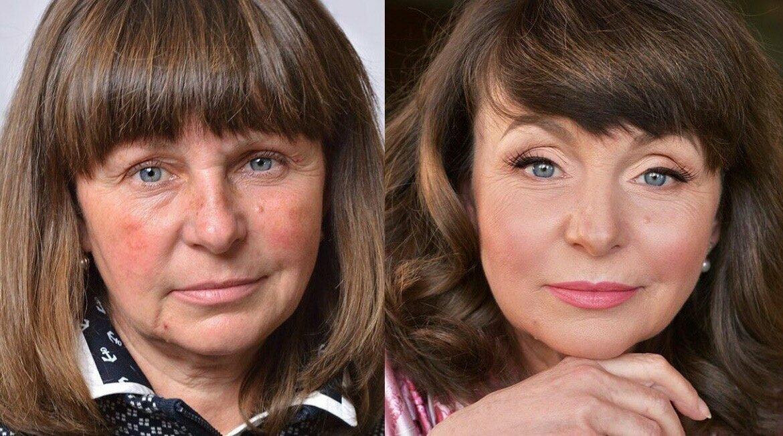 соглашалась возрастной макияж до и после фото наступлением