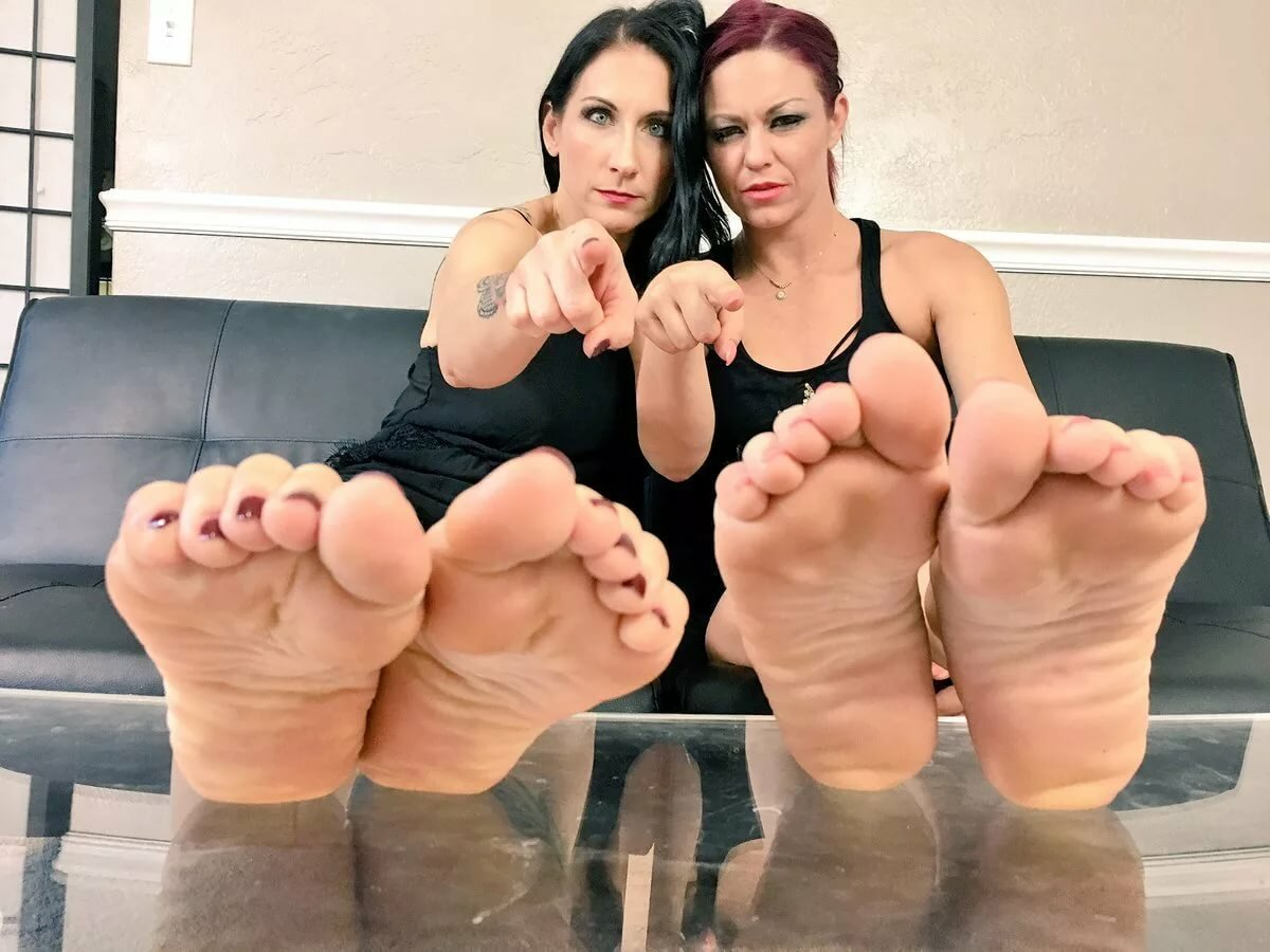Girls footjob talk show