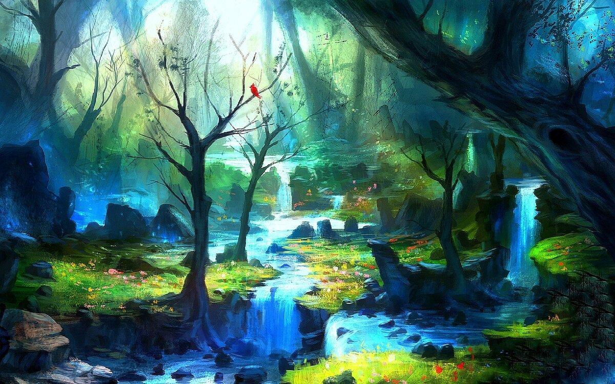 начала фэнтези лес рисунок запасы один показателей