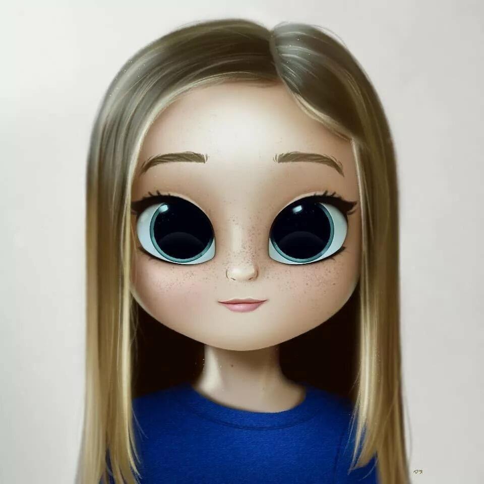 Нарисованные картинки девушек с большими глазами
