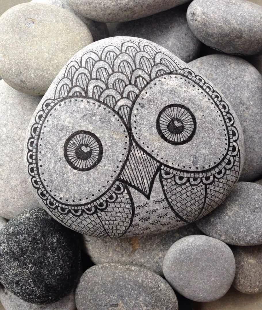 рисунок на камнях для начинающих можно просто