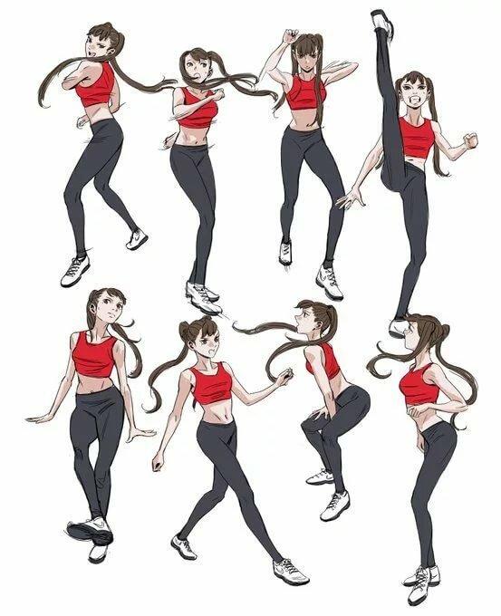 Движение танца в картинках учить
