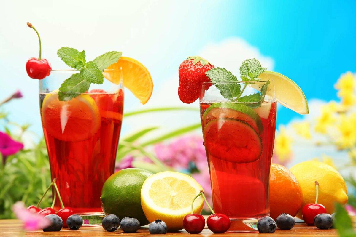 картинки с напитками и едой чай кофе соки компоты простое